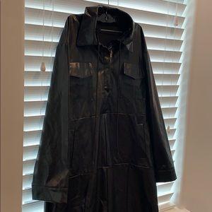 Jackets & Blazers - leather longline jacket